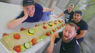 Fed Hi5 Studios With A 100 Pound Burrito!