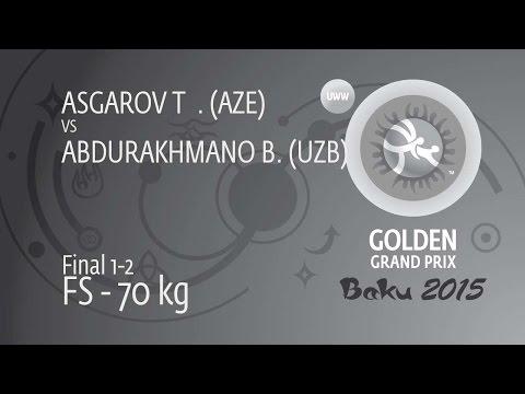 GOLD FS - 70 kg: B. ABDURAKHMANO (UZB) df. T. ASGAROV (AZE), 8-8