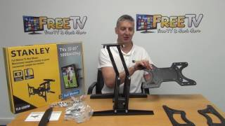 Stanley Full Motion Curved TV Mounting Bracket (32 - 65 Inch TVs)