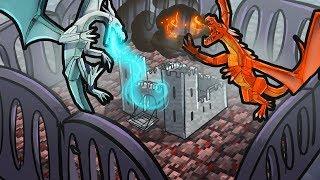 Minecraft Dragons - ICE DRAGON VS FIRE DRAGON!