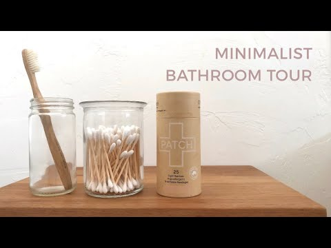 MINIMALISM   Bathroom Tour   Zero Waste, Minimal Home