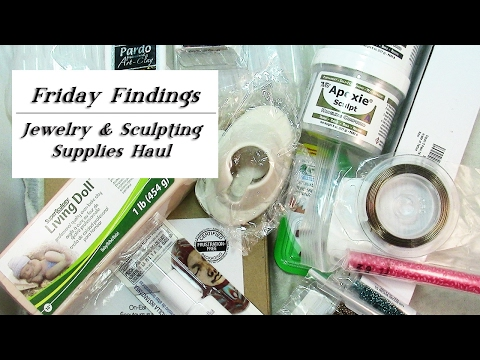 Jewelry & Sculpting Supplies Haul-Friday Findings