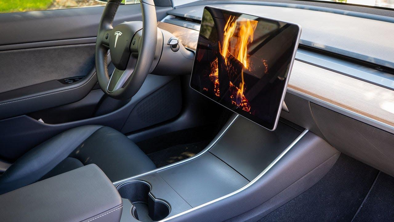 Satin Black EV Armor Tesla Model 3 Steering Wheel Vinyl Wrap