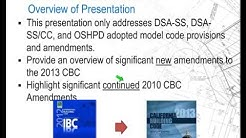 2013 California Building Code Amendments
