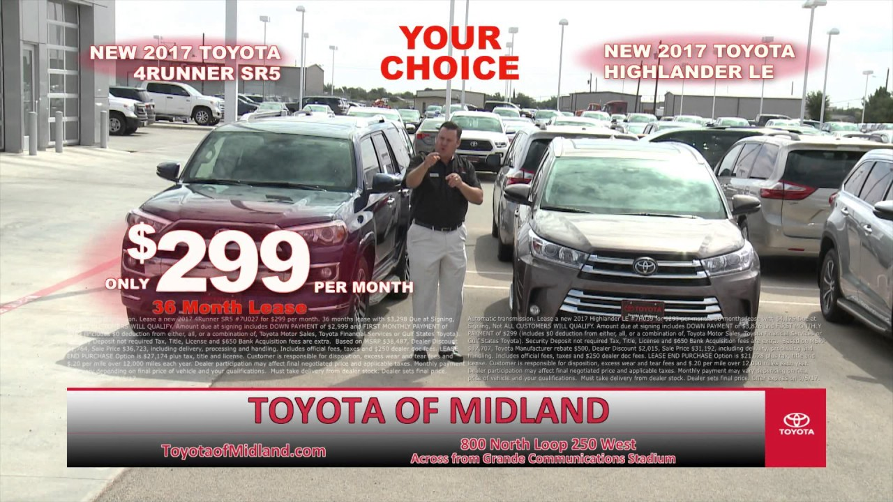 Toyota Of Midland >> Toyota Midland Toyota Annual Clearance Event