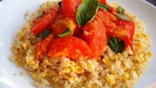 Tomato & Garlic Fried Rice Recipe イタリアン炒飯のレシピ・作り方