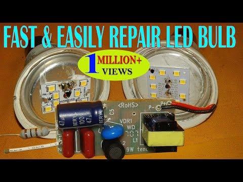 FAST & EASILY REPAIR LED BULB AT HOME