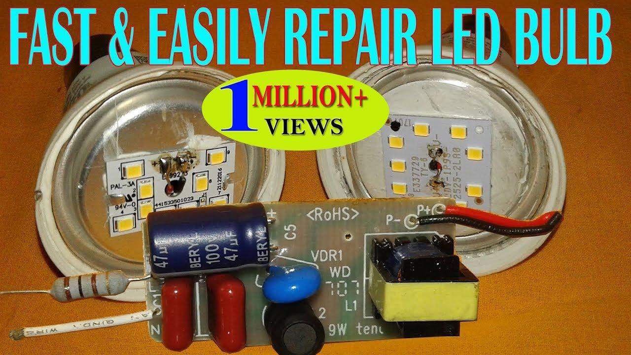 Fast Easily Repair Led Bulb At Home Youtube