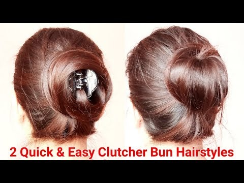 Voluminous Bun/Juda Using A Clutcher| Everyday Clutcher Hairstyles|AlwaysPrettyUseful Hairstyles