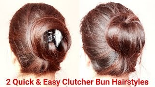 Voluminous Bun/Juda Using Clutcher|Everyday Hairstyles|Clutcher Bun Hairstyles|AlwaysPrettyUseful