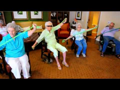 Senior Elastic Band Class--PTSue.com for Seniors - YouTube