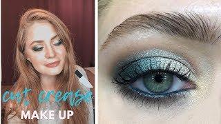 Цветной макияж cut crease / тестируем новинки: пошаговый видео-урок