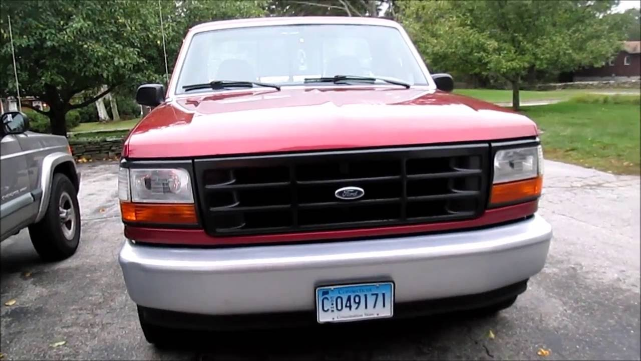 ford f150 bronco baseboard heater wiring diagram 1996 f-150 restoration - repairing and painting the front bumper see description youtube