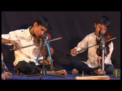Violin Ganesh with sri sruthilaya students manapakkam