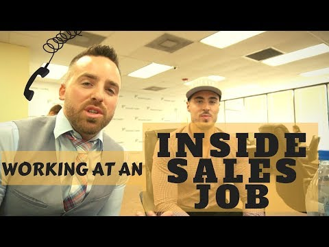 What is it like to work at an inside sales job?