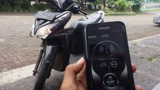 Alarm motor + GPS pakai remot dan pakai apk android/ios