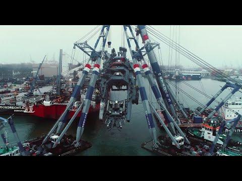 Installation of pipelay ramp onto reel-lay vessel Seven Vega