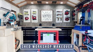 DIY SHED WORKSHOP MAKEOVER!