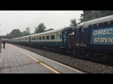 Retro Railtours with The Retro Welsh Dragon 2 passing through Llansamlet Station 2017 07 15