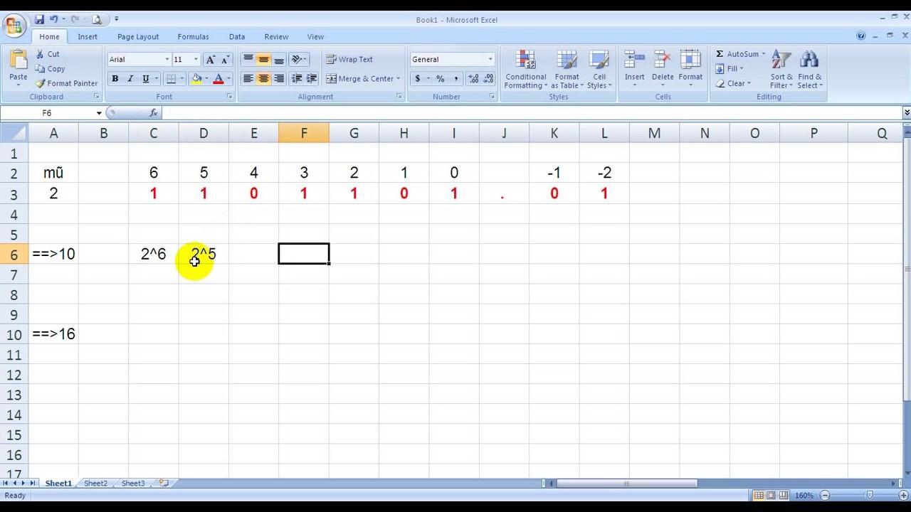 Chuyển hệ 2 sang hệ 10 và 16 (nhị phân sang thập phân, nhị phân sang thập lục phân)