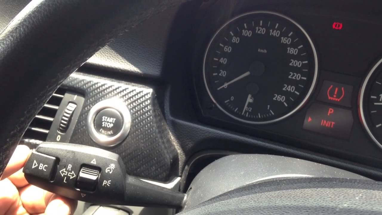 Bmw E90 Reset Tyre Pressure Youtube