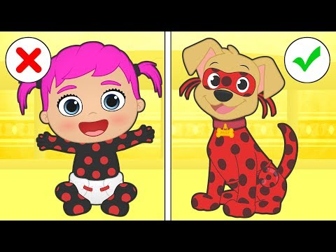 🐞 BABY LILY and MAX 🐞 Max dresses up as Puppybug, Ladybug's dog | Cartoons for children