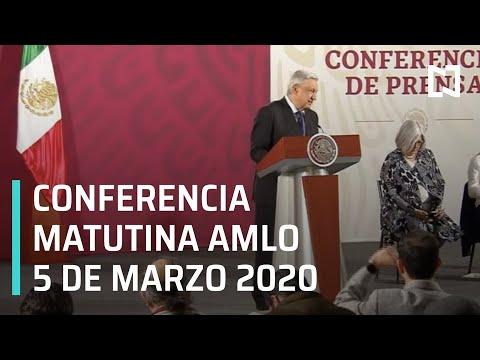 Conferencia matutina AMLO - Jueves 5 de marzo 2020