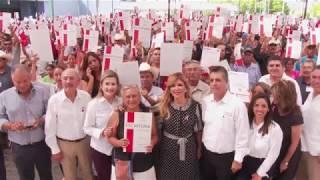 Entrega Gobernadora escrituras a familias de Hermosillo
