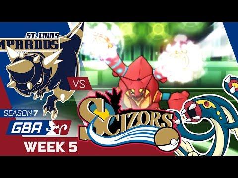 STEAM ERUPTION! St. Louis Rampardos VS Phi Scizors Week 5 GBA S7 | Pokemon Sun Moon WiFi