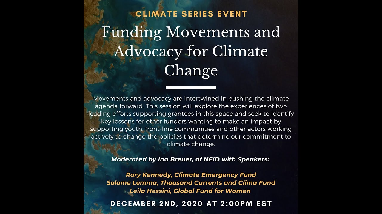 Funding Movements and Advocacy for Climate Change