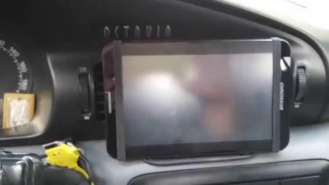 Установка планшета в автомобиль Шкода Октавия.