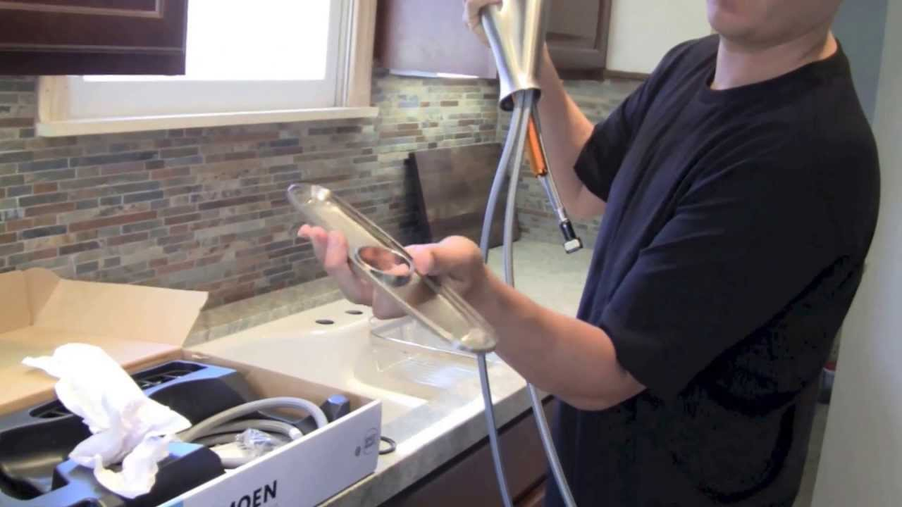 changing kitchen faucet youtube