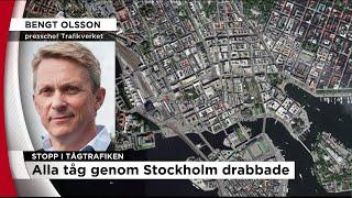 Omfattande tågstopp i Stockholm efter strömavbrott - Nyheterna (TV4)