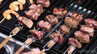 How To Grill Kebabs - Lamb, Shrimp, Vegetable & Beef