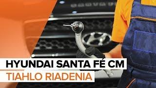 Ako vymeniť Čap riadenia HYUNDAI SANTA FÉ II (CM) - online zadarmo video