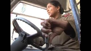 Amazing The Best Lady Bus Driver  @ BMTC Bangalore...