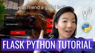 How to code a WEB APP using Flask (Flask Python Tutorial for Beginners) ft ~*doggo roulette*~