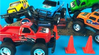 New Bright Wheels Free Wheeling Car Toy PlaySet - Monster Trucks the Boys favorite Toys