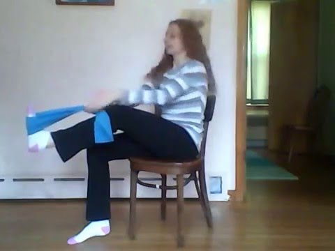 Chair Leg Extension With Resistance Band