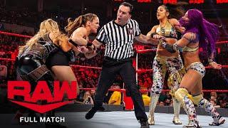 FULL MATCH - Sasha Banks & Bayley vs. Ronda Rousey & Natalya: Raw, Jan. 21, 2019
