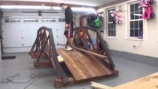 How to build a wooded truss bridge yourself for decoration but fully functional for real loads.