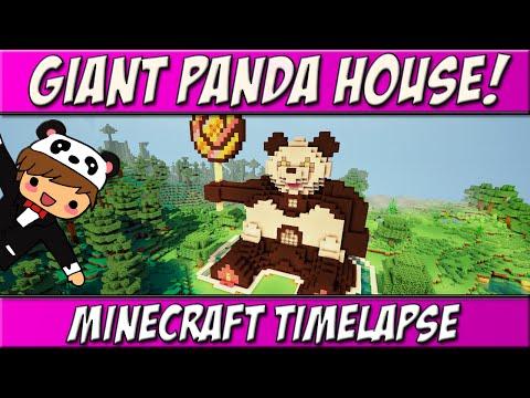 Giant Panda House! | CrazyCraft 3.0 Build Timelapse