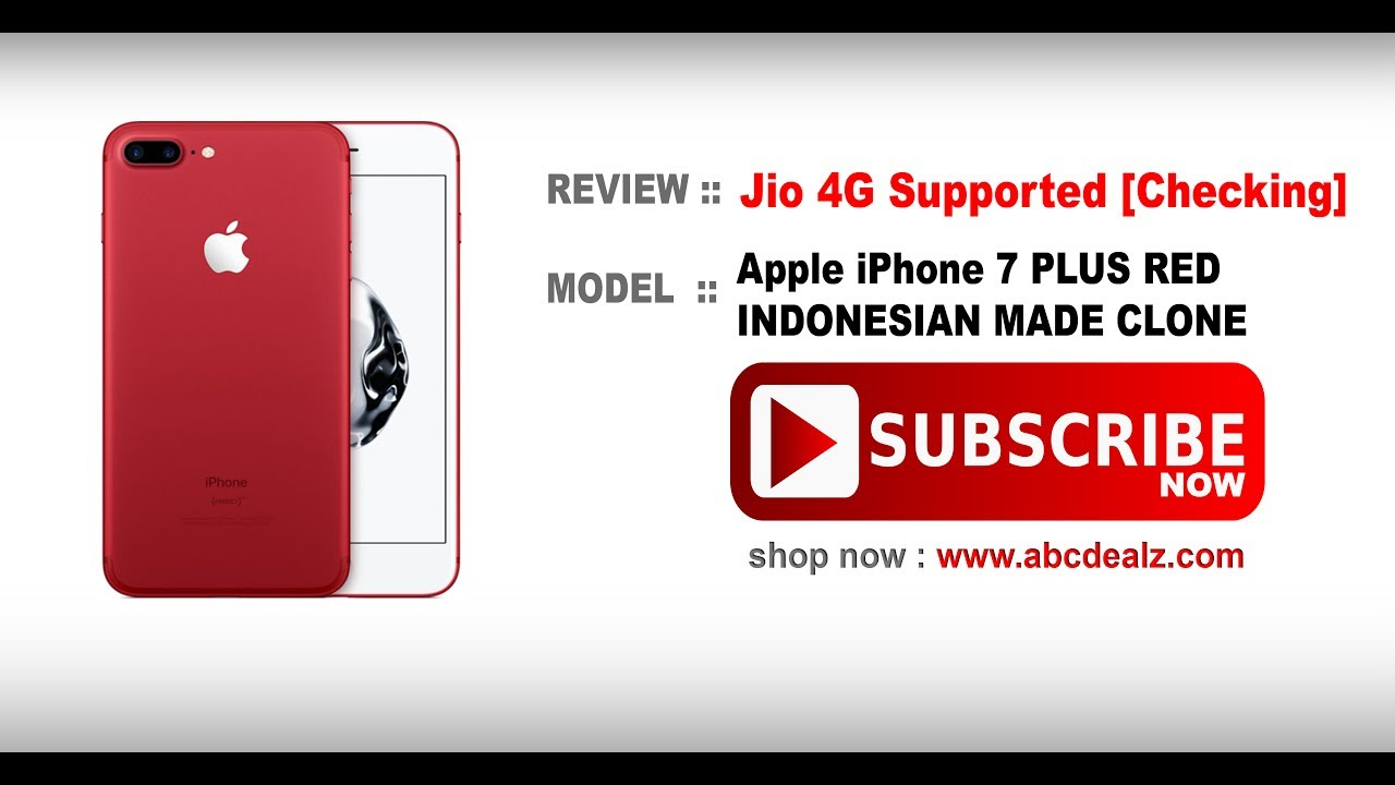 Jio 4G Working !! iPhone 7 Plus INDONESIAN MADE CLONE | SHOP NOW !! [Links  Available 🔽]