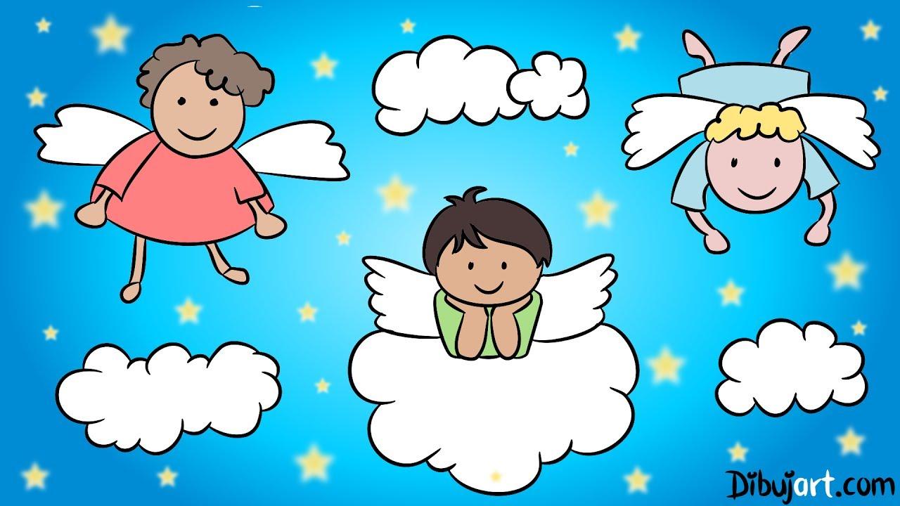Cómo Dibujar Un ángel Dibujos De Angelitos Youtube