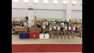 Соревнования по спортивной гимнастике, 1 юн. разряд.  Краснодар. Ксения улучшила результат.