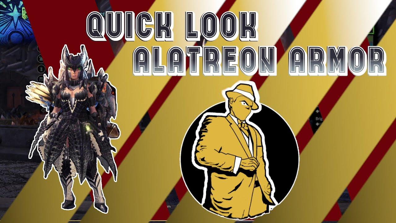 Quick Look Alatreon Armor - YouTube
