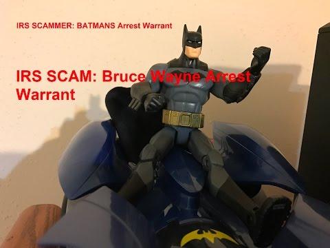 IRS Scammer tells Batman he has an Arrest Warrant