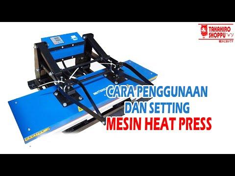 Review Cara Menggunakan dan Setting Mesin Heat Press Besar (lanyard)