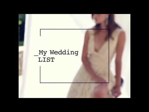 My wedding LIST Salvatore Plata