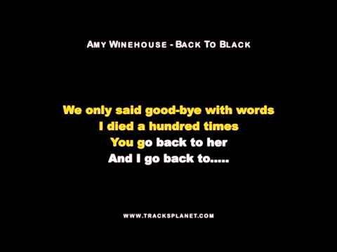 Amy Winehouse - Back to Black Karaoke